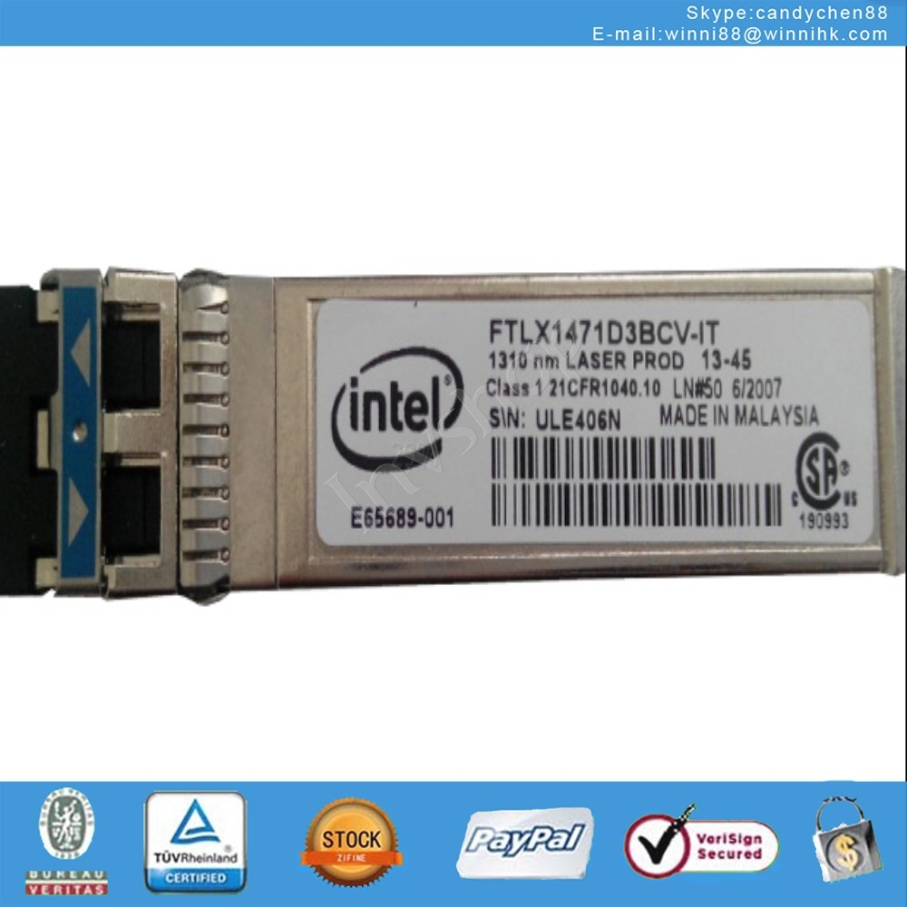 NEW INTEL FTLX1471D3BCV-IT E10GSFPLR 1310nm module