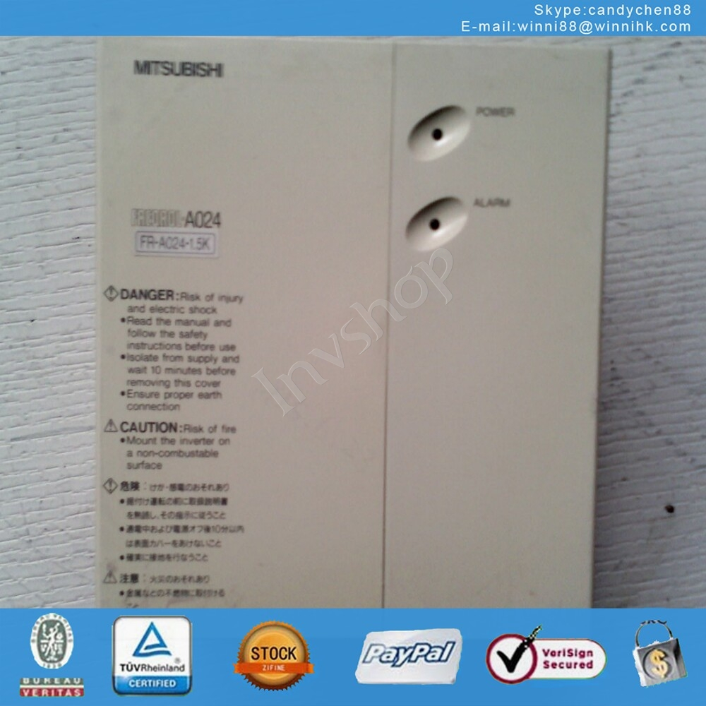 for Mitsubishi Used FR-A024-1.5K 1.5KW inverter  60 days warranty