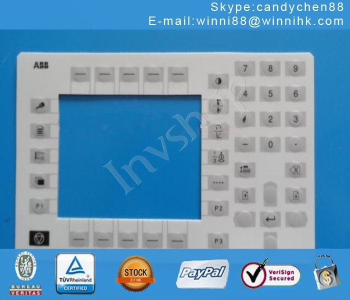 FREE SHIP For ABB 3HNM05345-1 NEW Pendan Membrane Keypad 00KP2 Teach Pendant