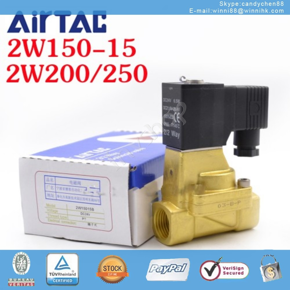 2W150-15 DC24 Solenoid Valve New Original AirTAC 60 days warranty