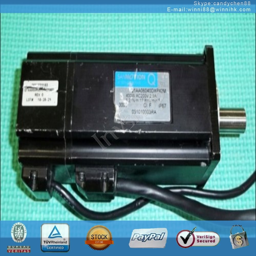 for Sanyo Q1AA06040DXP42M 400w servo motor 60 days warranty