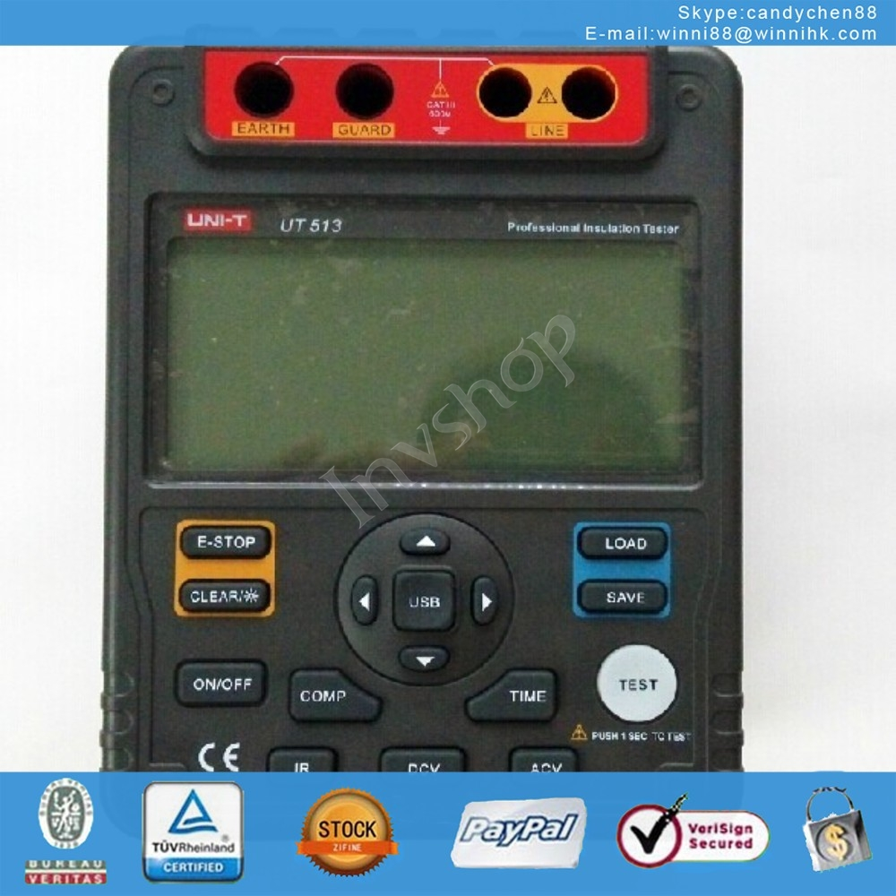 new UNI-T UT513 Digital Insulation Resistance Tester Meter