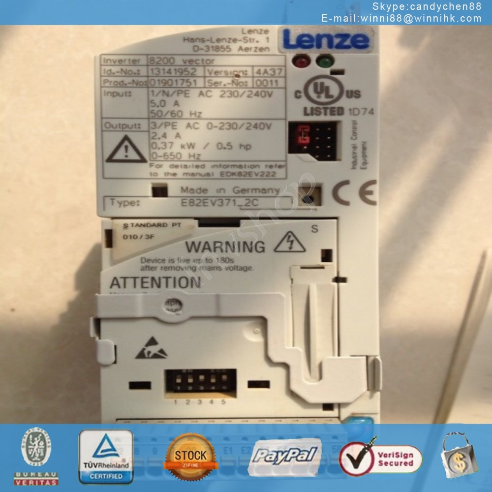 LENZE E82EV371-2C Used Inverter PLC