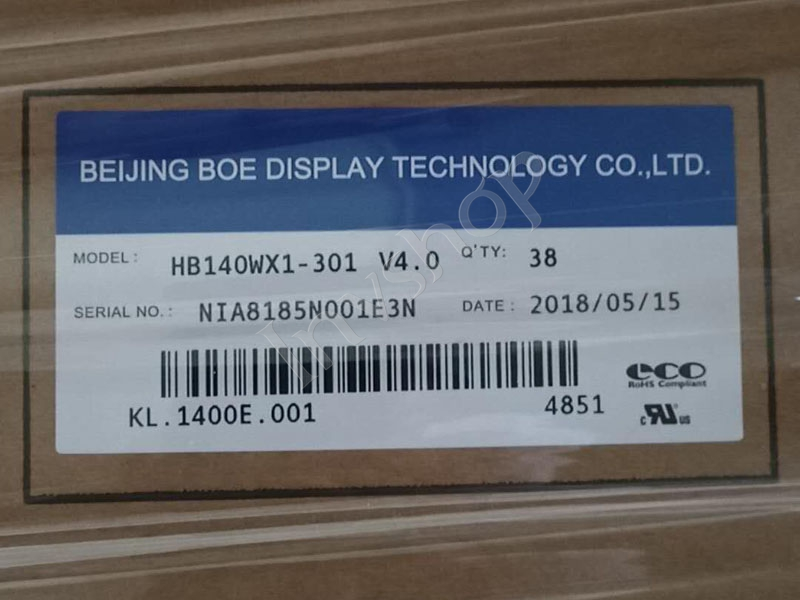 HB140WX1-301 14.0 inch 1366*768  LCD PANEL NEW AND ORIGINAL PACKED