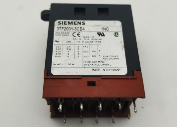 SIEMENS 3TF2001-8CB4 NEW Relay
