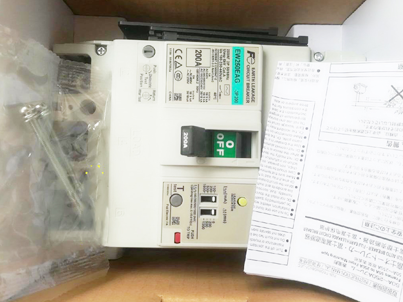 Fuji air switch leakage circuit breaker EW250EAG-3P