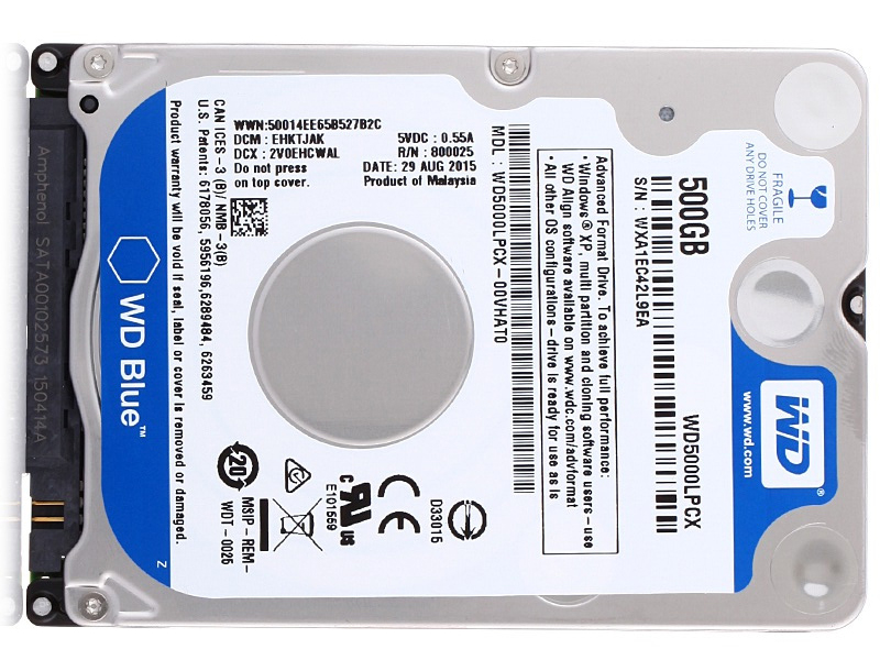 WD5000LPCX hard disk for Laptop